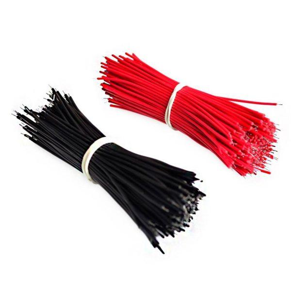 100 соединительных проводов 9,6 см (черный, красный)