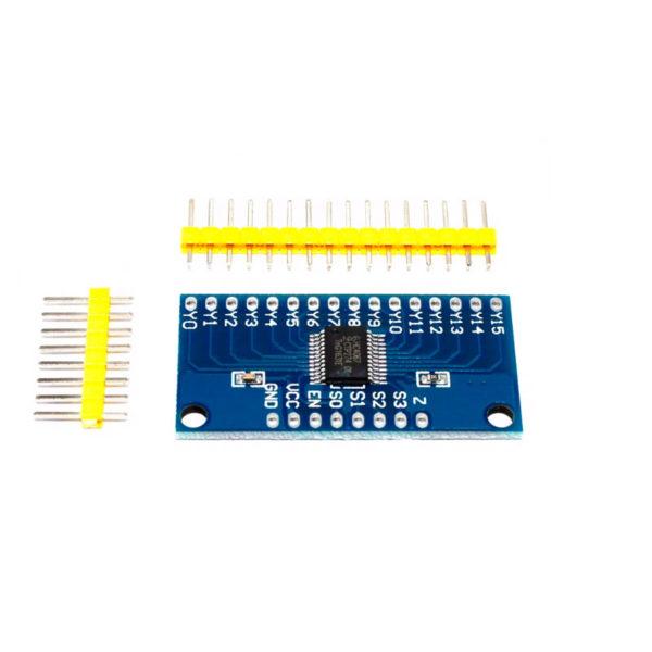 CD74HC4067 - мультиплексор на 16 каналов