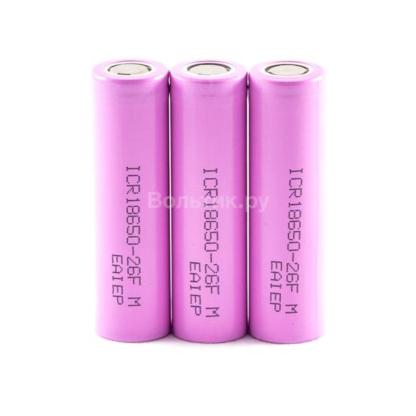 18650 ICR18650-26F 2600 mAh - Li-ion аккумулятор 3.7V