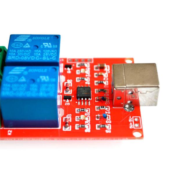 Двухканальное реле USB 250В / 10А