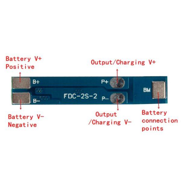 Плата/модуль защиты 2 Li-Ion аккумуляторов 18650 2S
