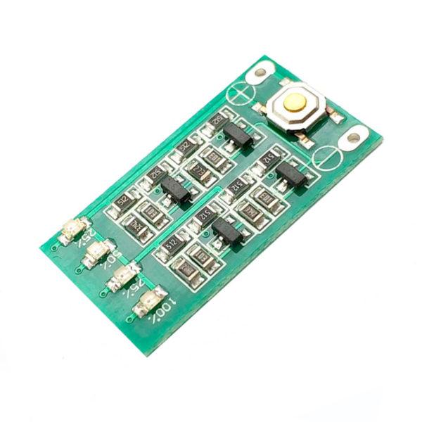 Индикатор заряда для 3-х АКБ 18650 (11.1В, 12В 12.6В)