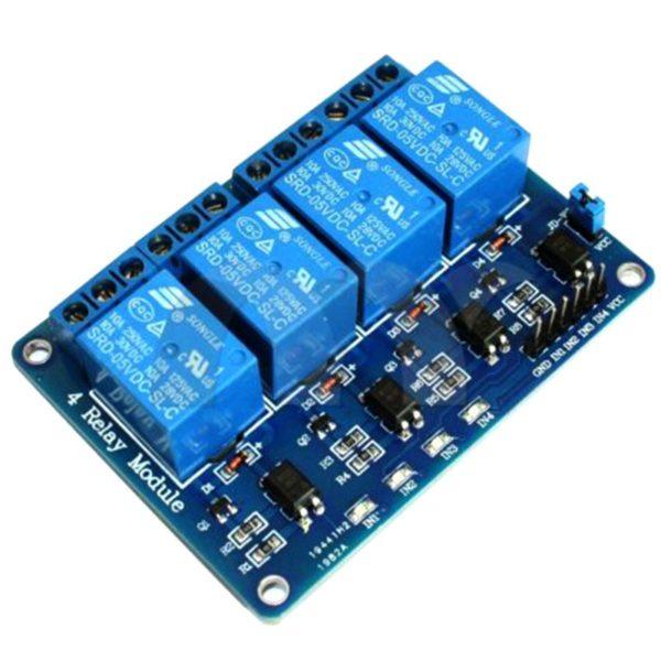 Четырехканальное реле для Arduino