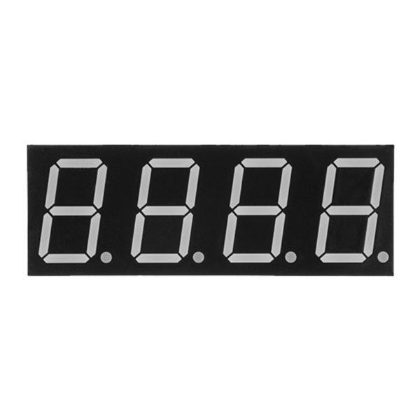 4-х разрядный 7-ми сегментный индикатор