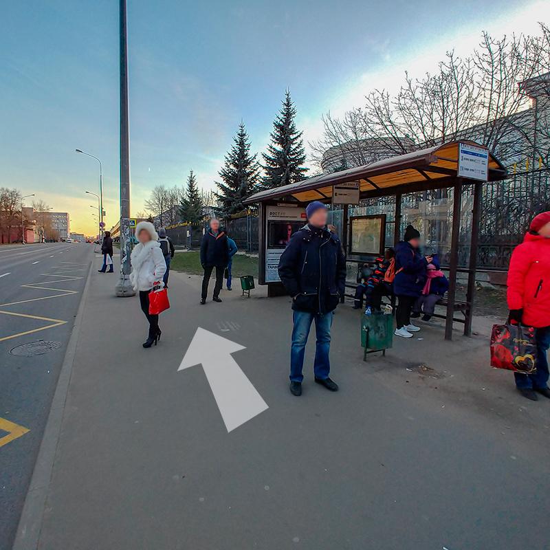 Идем прямо 5 минут пешком или садимся на любой автобус и выходим на следующей остановке