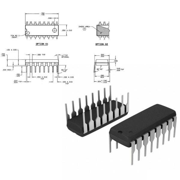 74HC4052 - Четырехканальный мультиплексор