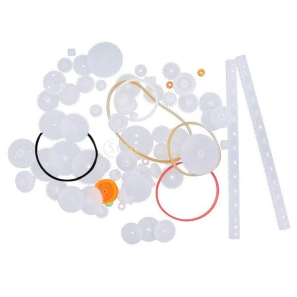 Набор пластиковых шестерен для двигателей (пластиковые, 75 шт.)