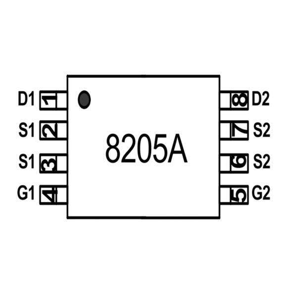 Микросхема защиты 8205A