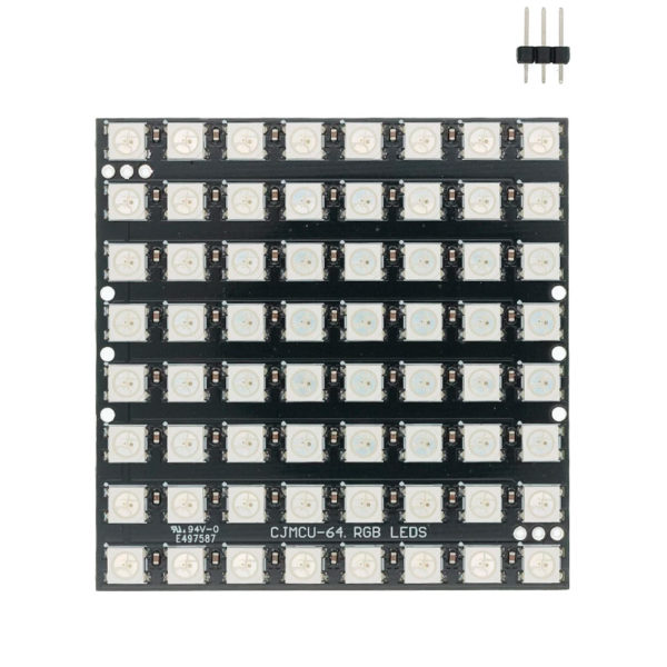 Светодиодная матрица WS2812B 8x8 (64px / DC 5В)