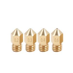 Латунное сопло MK8 для нити 1.75мм (0.3 - 0.4 мм)