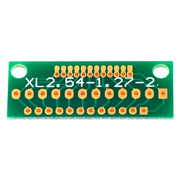 Адаптер - переходник для контактов с шагом 2.54 / 2 / 1.27 мм (12 контактов)