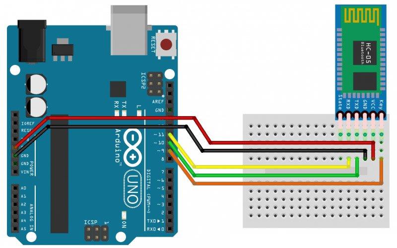 Пример подключения модуля к платформе Arduino