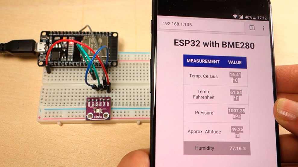 Мини-метеостанция с веб-сервером на ESP32 с датчиком BME280