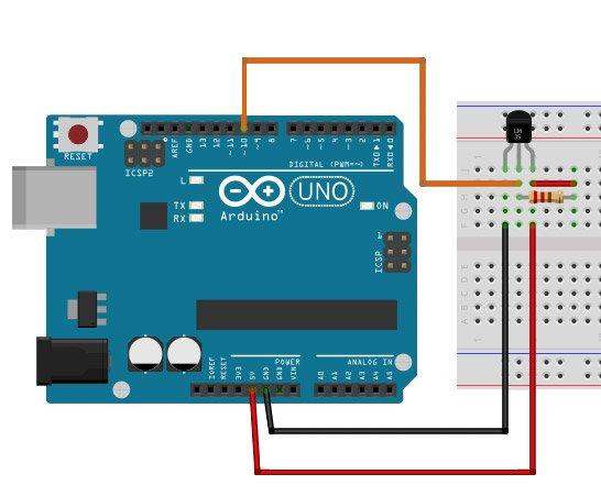 Подключение DS18B20 (DS18S20) к Arduino