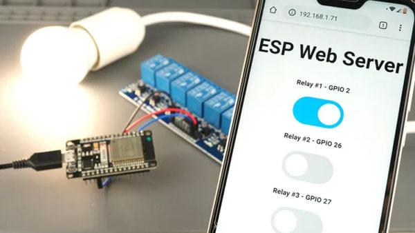Демонстрация веб-сервера на ESP32