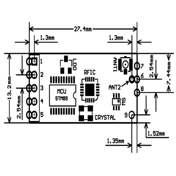 Радио модуль HC-12-SI4463