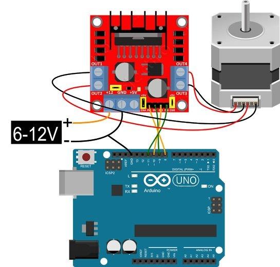 драйвер L298 и Arduino