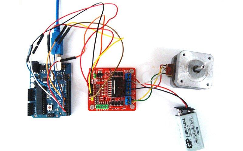 Подключение шагового двигателя к Arduino через драйвер L298