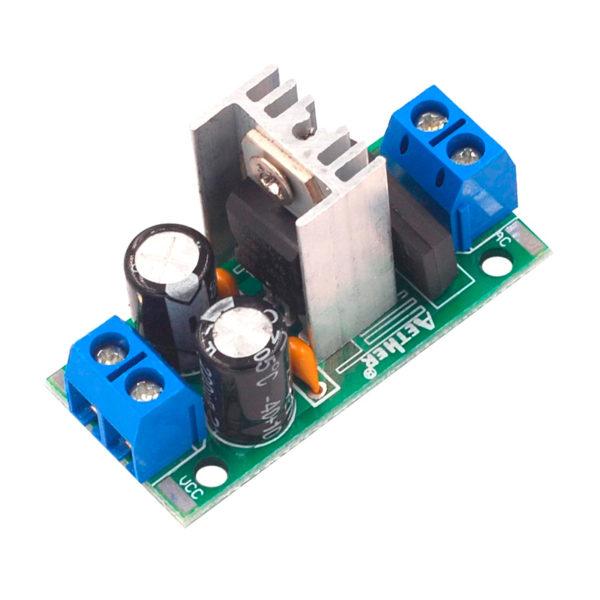 LM7805 - модуль трехвыводного стабилизатора наприяжения
