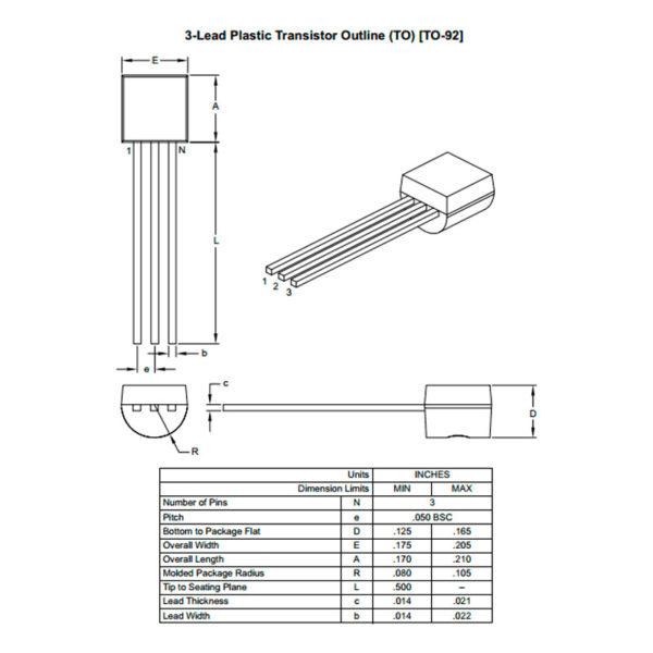 MCP1700-3302E - LDO регулятор напряжения TO-92