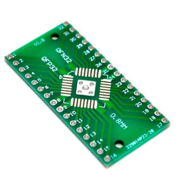 Печатная плата QFP32 QFN32 DIP32 TQFP LQFP EQFP (0.8мм в 2.54мм)