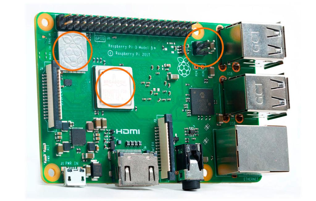 Raspberry Pi 3 Model B+ схема