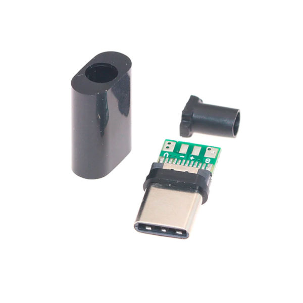 USB type-C разъем с пластиковым кожухом