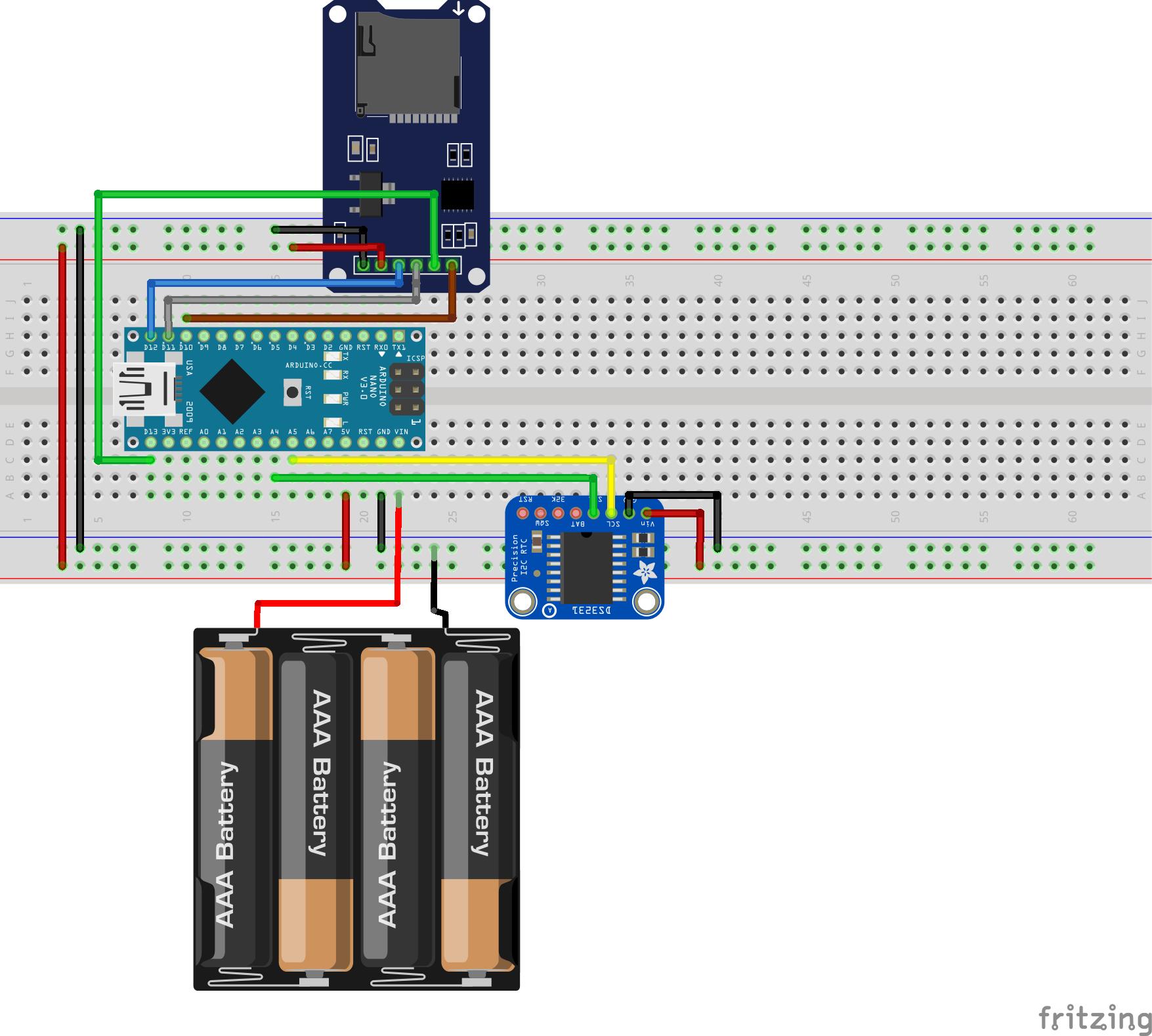 Регистратор данных на базе Arduino