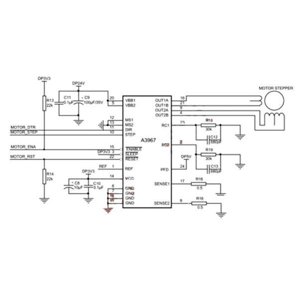 Драйвер шагового двигателя A3967 EasyDriver V4.4