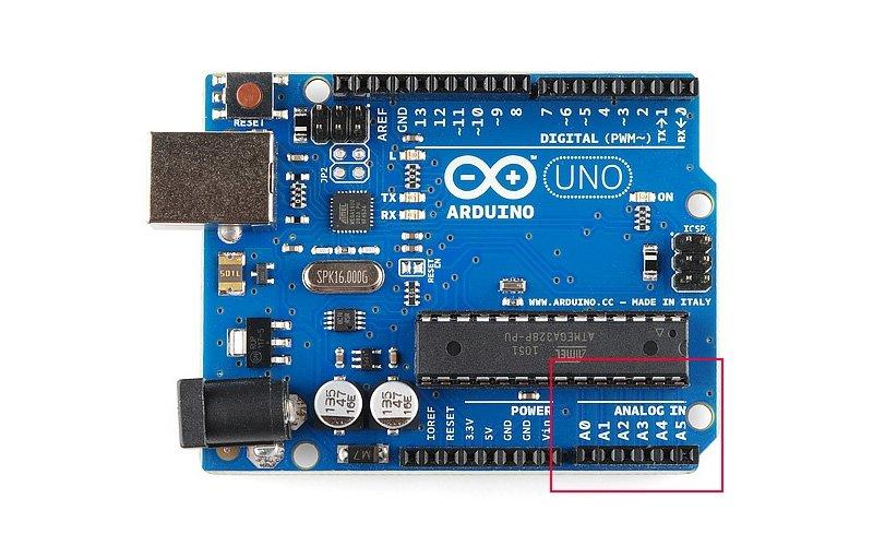 Аналоговые входы в Arduino