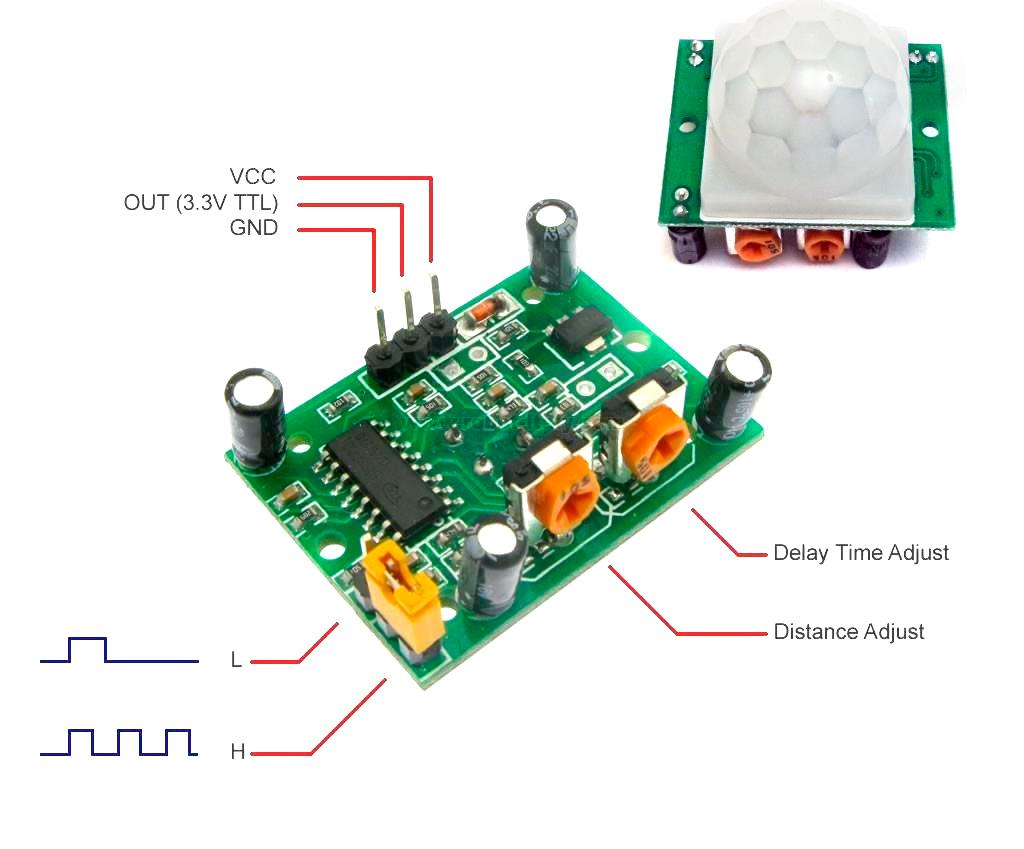 Arduino и датчик движения HC-SR501