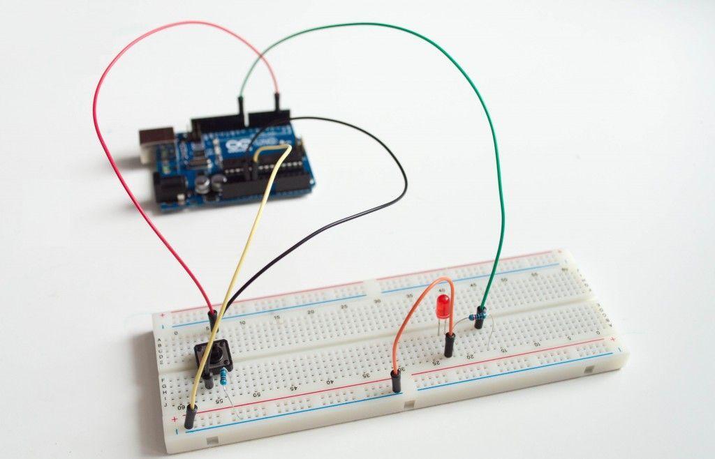 Подключение кнопки к Arduino