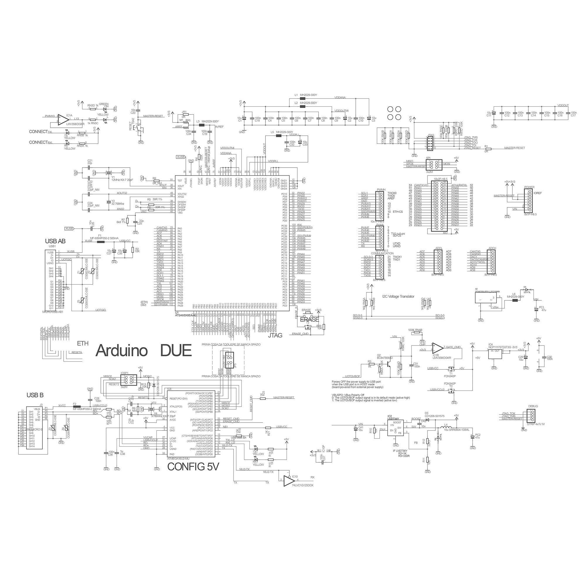 Принципиальная схема Arduino Due