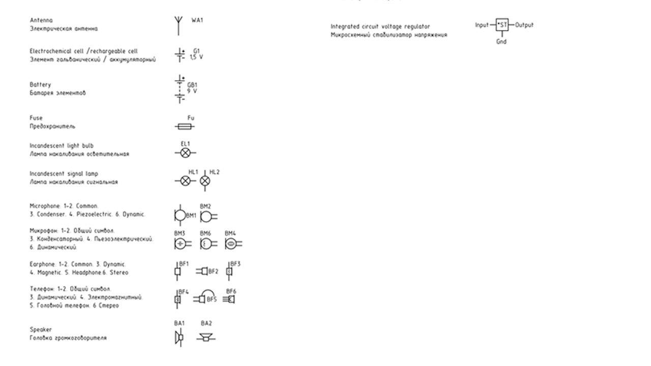 Принципиальные схемы электрических цепей