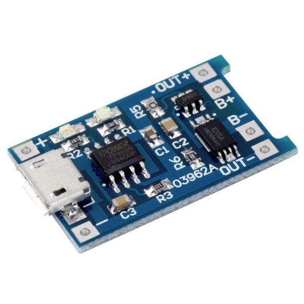 Плата заряда Li-On аккумуляторов TP4056 (с защитой)