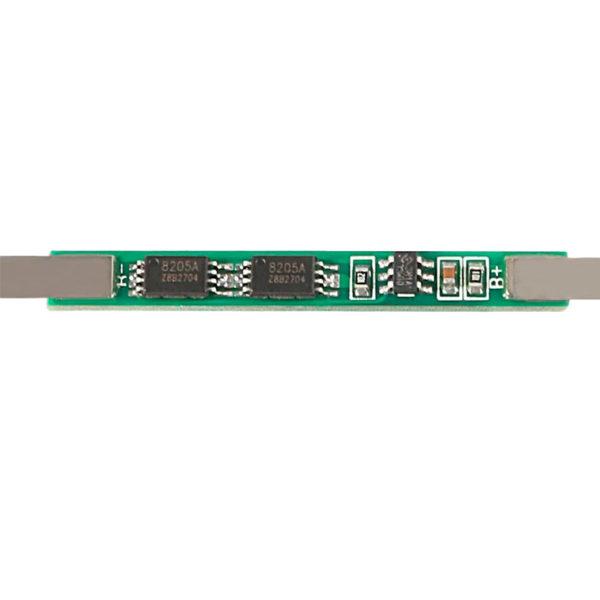 BMS 1S (3.7 ~ 4.2В / 3A) - плата защиты для Li-Ion АКБ 18650 с никелевыми контактами