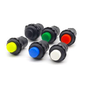 Кнопка с фиксацией (1.5A / 250V AC, 3A / 125V AC)