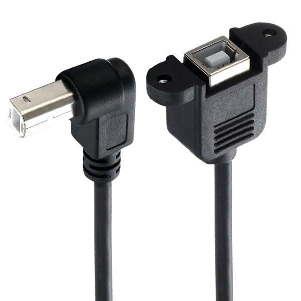 Угловой Кабель-переходник (USB-B Папа - Мама, 50см)