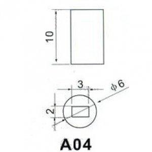Циллиндрический колпачок A-04 Белый