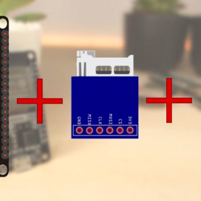 Запись значений температуры на карту microSD с помощью ESP32