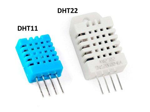 Сравнение датчиков DHT11, DHT22 и DHT21