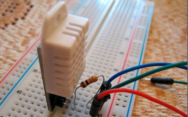 DHT22 и Arduino - схема подключения