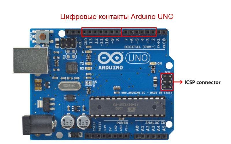 Цифровые выходы Arduino
