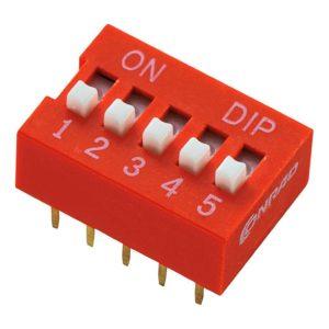 Прямой DIP-переключатель DS-05