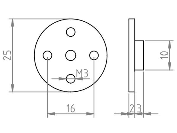 Втулка вала серводвигателя для Tower Pro MG995