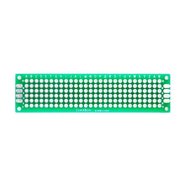 Двухсторонняя распаечная макетная плата 2x8 см, 168 точек