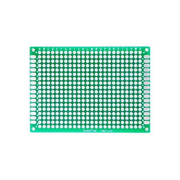 Двухсторонняя распаечная макетная плата 5x7 см, 168 точек