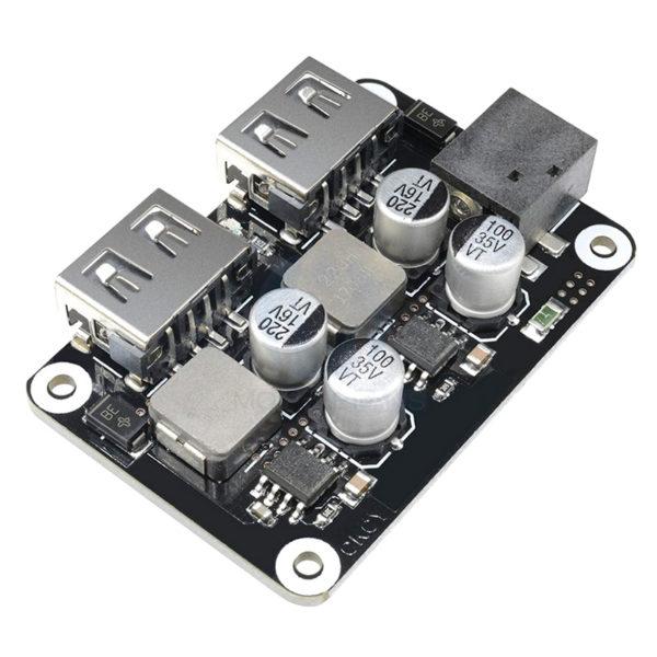 USB модуль зарядки с поддержкой технологий QC3.0 QC2.0, PE1.1/2.0 (Step Down) с двумя USB портами