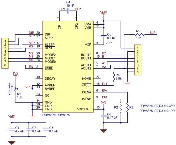 DRV8825 - драйвер шагового двигателя