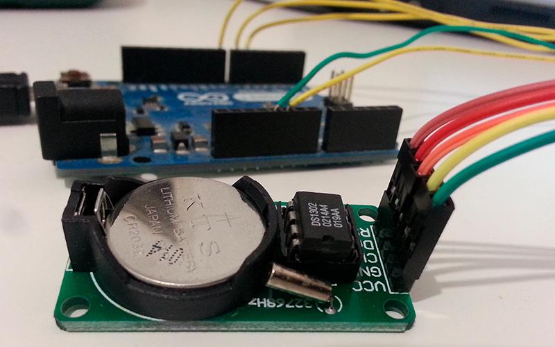 DS1302 - схема подключения к Arduino